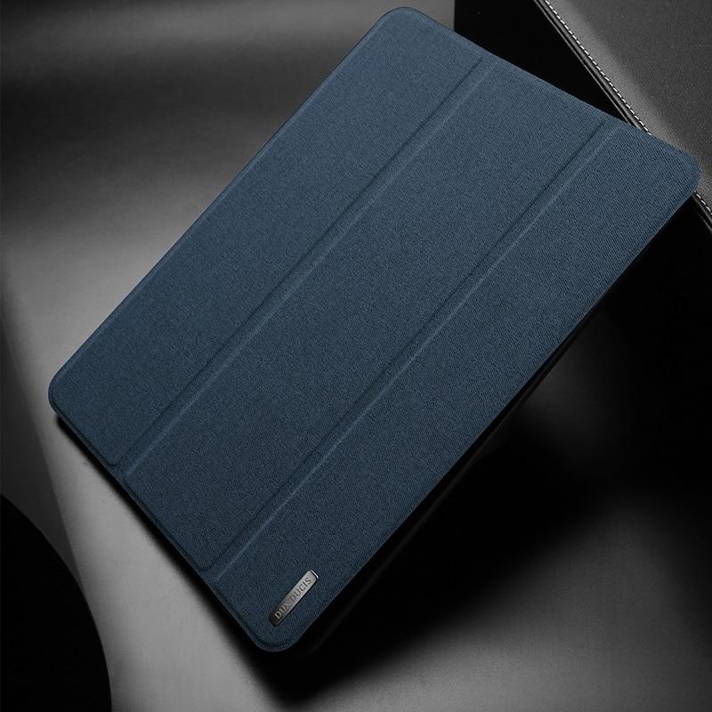 Dux ducis tecido capa de couro para samsung galaxy tab s6 luxo ultra fino suporte flip capa para samsung galaxy tab s6 10.5