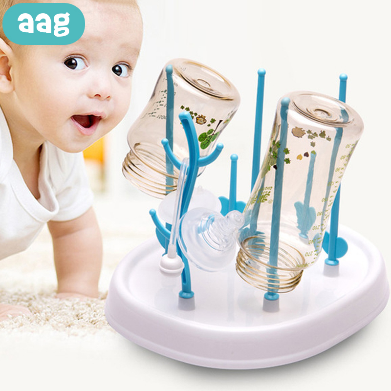 AAG Baby Bottle Dryer Newborn Bottle Drying Rack Holder Cup Pacifier Drainer Stand Bottles Storage Cleaning Tree Wholesale