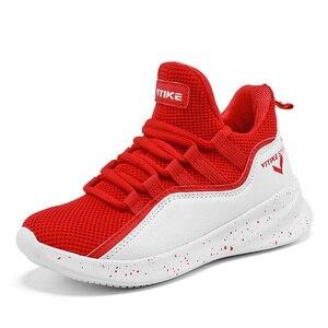 Chaussures de basket-ball pour enfants maille filles chaussures de course respirant à lacets sport Sneaker léger en plein air formateurs