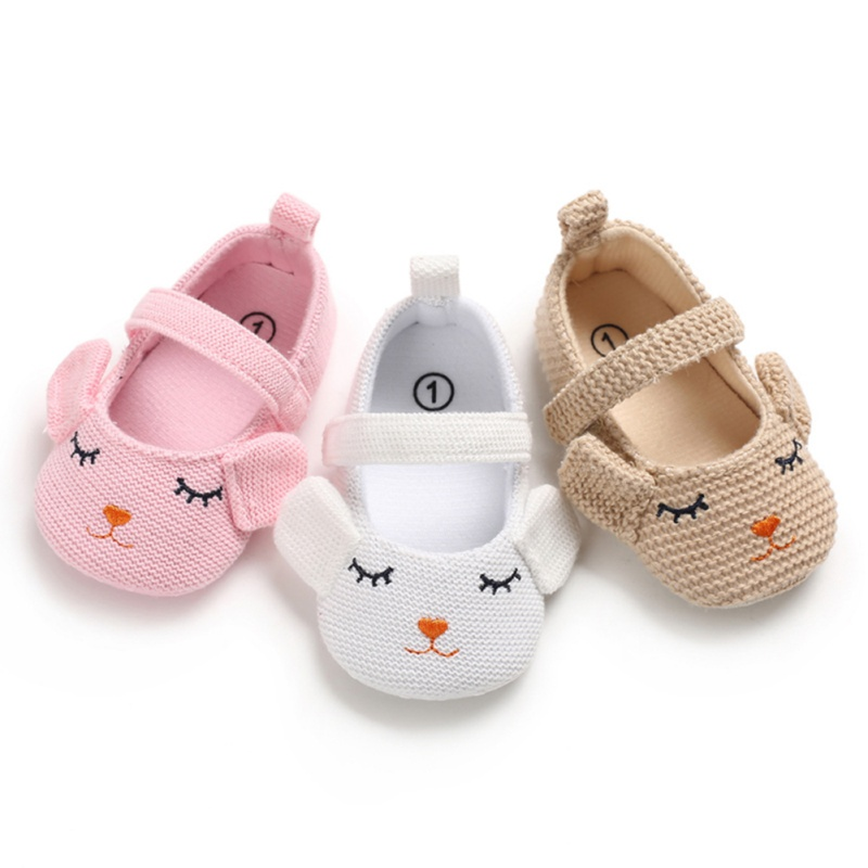 Newborn Baby Girl Knitting Shoes Spring Cartoon Mouse Cotton Baby Shoes First Walkers Comforts Casual Baby Girl Shoes