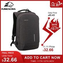 Kingsons erkek sırt çantası moda çok fonksiyonlu USB şarj erkekler 13 15 inç Laptop sırt çantaları anti hırsızlık çanta erkekler için