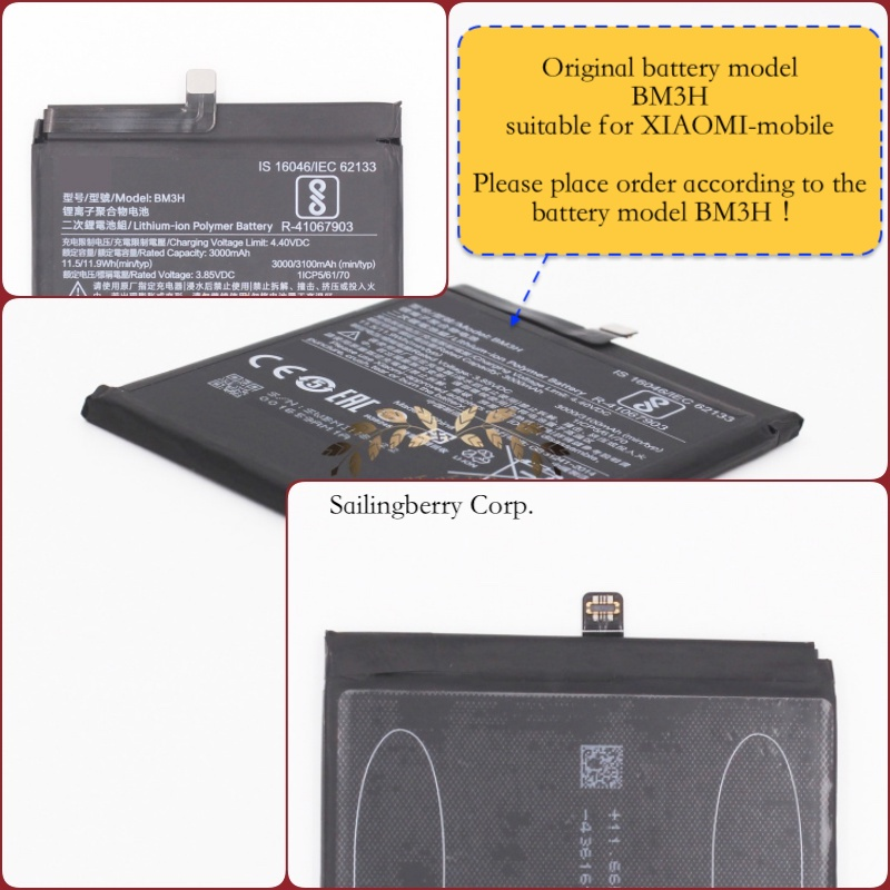 Original battery suitable for XIAOMI-mobile with battery model BM3H(It is safe to check before placing order image