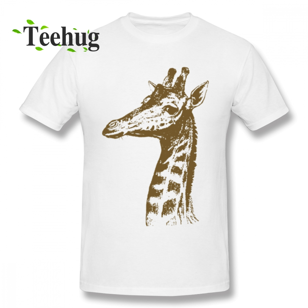 High Q Giraffe 100 Cotton T Shirt Male 2018 New Custom For Male Round Neck T Shirt in T Shirts from Men 39 s Clothing