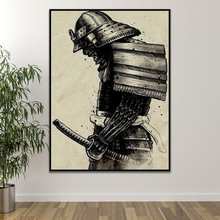Japanese Samurai Canvas Oil Painting Modern Wall Art Pictures Posters And Prints For Living Room HD Home Decoration No Frame pop art alec monopoly hd canvas painting print living room home decoration modern wall art oil painting posters pictures artwork