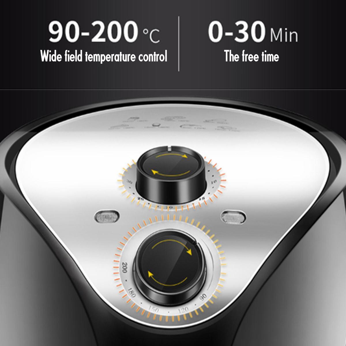 Friteuse à Air friteuse électrique 1500W 220V 5.5L 360 ° haute vitesse Circulation d'air chaud multifonction cuisinière four faible en gras santé Pan - 4