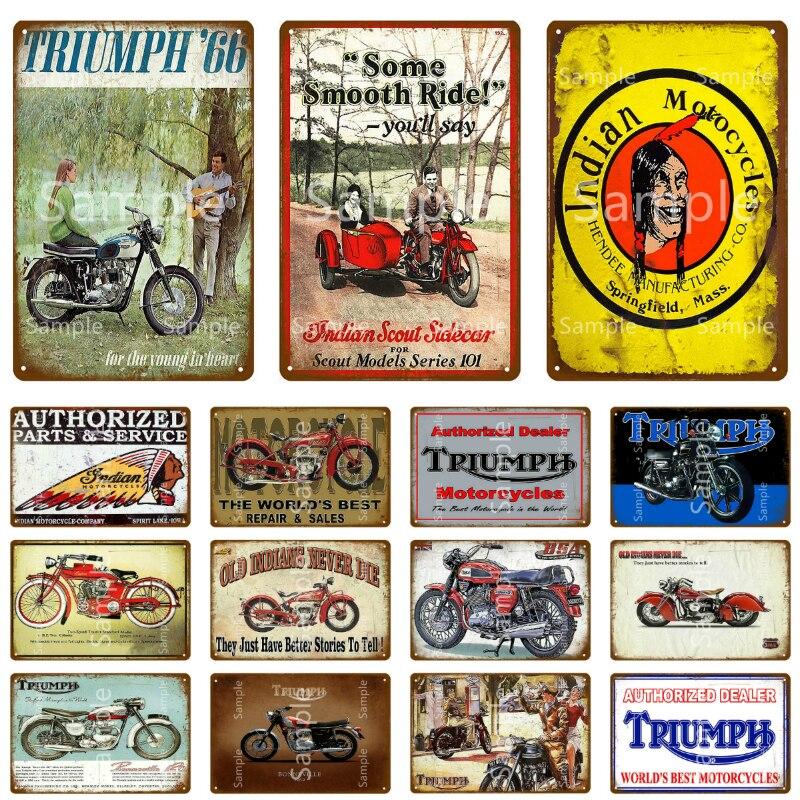 Bar Shed Garage Cafe Shop Film Metal Wall Sign Pub Triumph Motorcycles