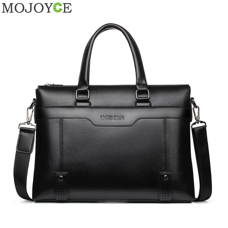 Fashion Simple Famous Brand Business Men Briefcase Bag Leather Laptop Bag Casual Man Bag Shoulder Bags