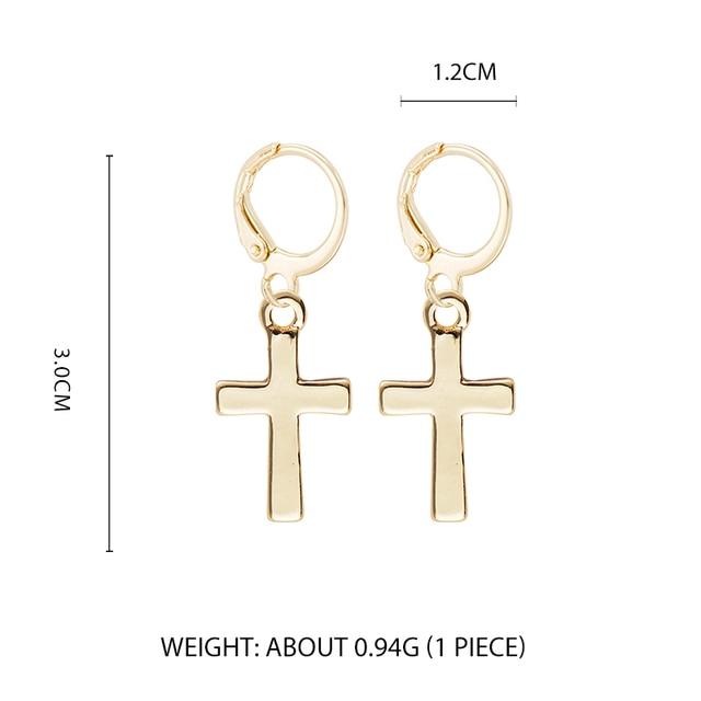Fieber & Freies 2019 Neue Kleine Gold Hoop Ohrringe Mini Kreuz Herz Frauen Knorpel Ohrringe Mode Pendientes Schmuck Für Liebhaber geschenk