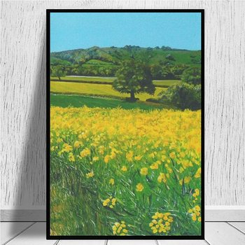 Downland Gold canvas prints Home Decor Large Wall Pictures For Living Room Posters HD Canvas Paintings image