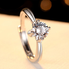 6mm CZ Stone Hearts and Arrows Cut Solitaire Ring Classic Engagement Solid 925 Sterling Silver Proposal Ring Gift for Lover helon elegant classic round 6mm engagement wedding semi mount setting ring sterling silver 925 three stone ladies jewelry ring