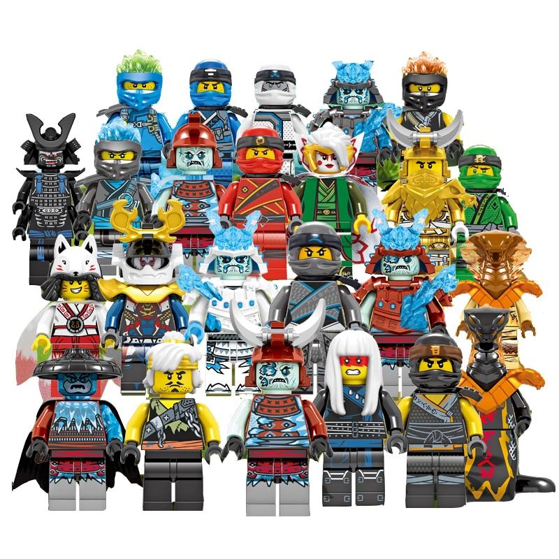 24pcs/lot 2019 LegoINGlys NinjagoING Sets NINJA Heroes Action Figures Kai Jay Cole Zane Nya Lloyd Minifigured Toys For Children