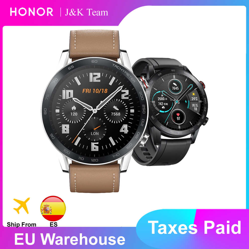 honor magic watch 2 relógio inteligente bluetooth 5.1 magicwatch 2 smartwatch oxigênio no sangue 14 dias telefone chamada freqüência cardíaca para android ios