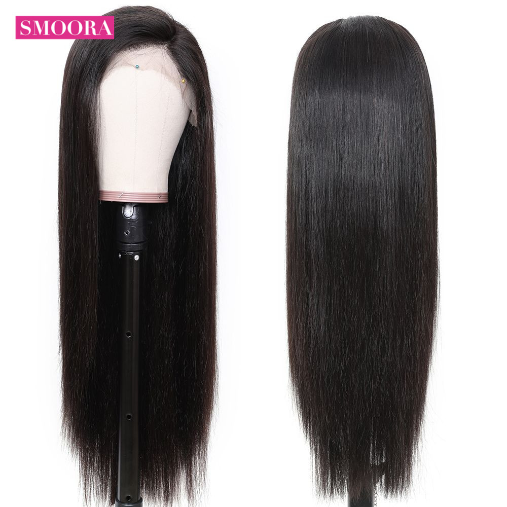 Straight Lace Part  Wigs 13x1 Lace Front Hair Wigs with Baby Hair Pre Plucked  Hair 150% Density 3