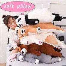 45/75cm Soft Cartoon Plush Animal Stuffed Cotton Pillow Panda Shiba Inu Dog Doll Appease Cushion Gift For Children