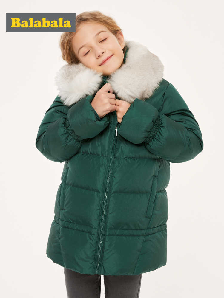 ילדי בגדי בנות למטה מעיל 2019 חדש סתיו וחורף לילדים ארוך סלעית בנות שובר רוח מעיל