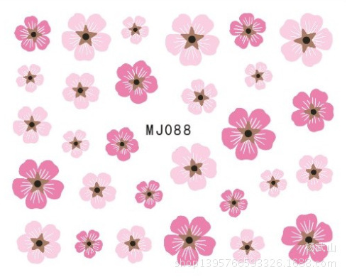 MJ085-093 Nail Sticker Watermark Nail Sticker Nail Polish Stickers Flower Hand-Painted Dried Flower Adhesive Paper