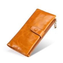 Rfid Wallet Mens Ladies Men Womens Wallets And Purses Women Genuine Leather Leisure Long Handbag Money Bag