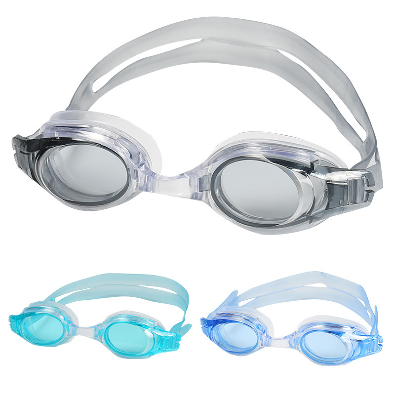 [Bag Goggles] Adult Men And Women Waterproof Anti-fog High-definition Eye Protection Plain Glass Silica Gel Swimming Goggles Who
