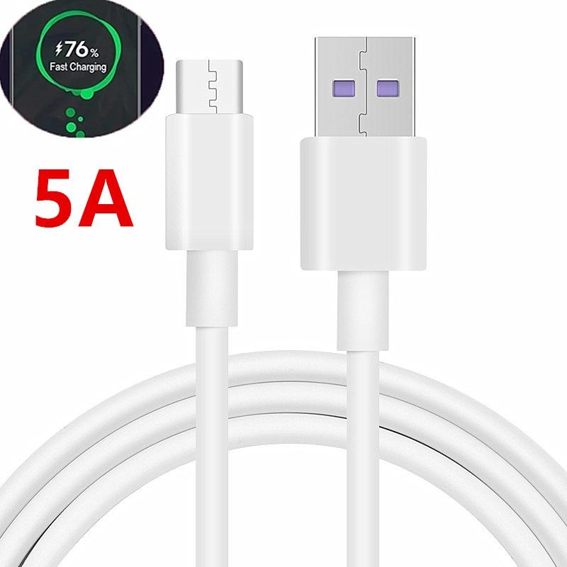 5a usb tipo c cabo 0.25m 1m 2m carregamento rápido tipo-c kable para huawei p30 pro p20 companheiro 40 pro telefone supercharge qc3.0 usbc cabo