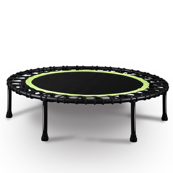 40Silent Mini Trampoline Fitness Kids Adult Indoor Bungee Rebounder Jumping Cardio Trainer Workout Safety