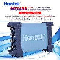 Hantek 오실로스코프 자동차 휴대용 오실로스코프 pc 6074be usb 2.0 인터페이스 4ch 70 mhz 표준 80 가지 유형 이상 장착