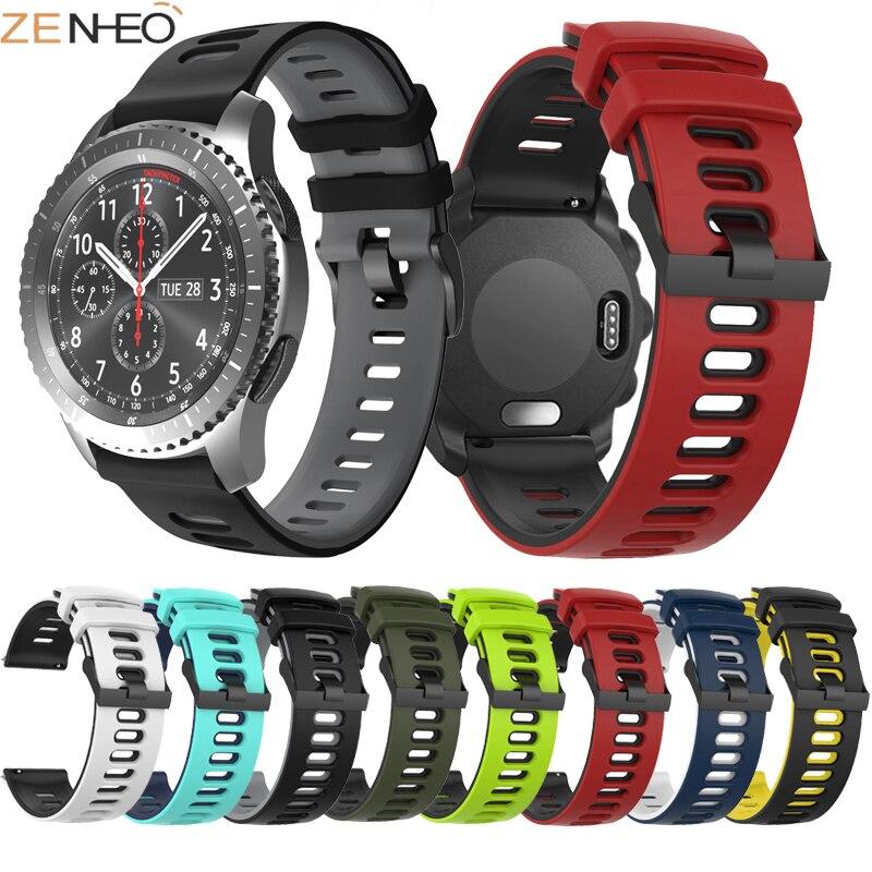 Ремешок силиконовый для Samsung Galaxy Watch 3/46 мм/42 мм/active 2/ Gear s3 Frontier/S2/Sport, браслет для Huawei GT 2/2E, 20 мм 22 мм