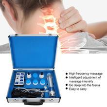 Vücut masajı ED elektromanyetik ekstrakorporeal şok dalga tedavisi makinesi ağrı kesici masaj ana ayrılabilir cihazı