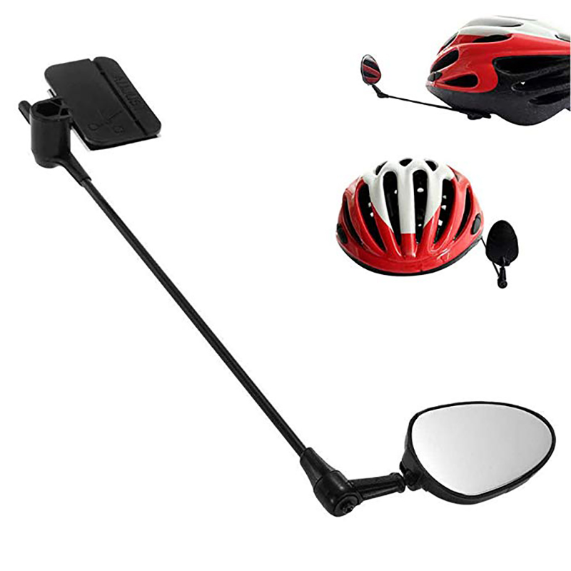 Riding Universal Rotation Adjustment Helmet Rearview Mirror Outdoor Sports ABS Plastic Bicycle Accessory Bike Parts