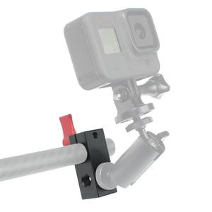 Image 2 - Bgning 15mm 1/4 única haste buraco montagem braçadeira fio display microfone clipe adaptador câmera slr coelho gaiola clipe câmera acessório