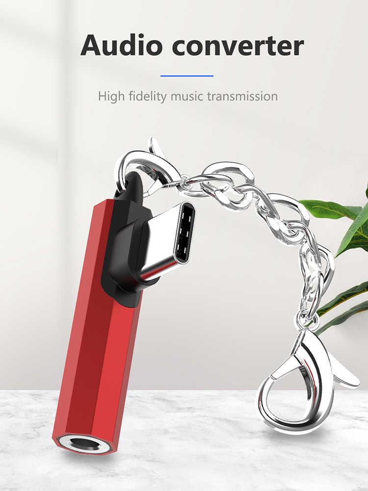3.5 مللي متر كابل الصوت نوع C إلى 3.5 مللي متر AUX الهاتف المحمول محول ل Samusng HuaweiP30 USB C الهاتف محول 90 Dregree الهاتف الفاصل