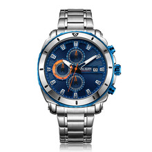 MEGIR Chronograph Luxury Brand Stainless Steel Business Wrist Watches Men Clock Hour Time Relogio Masculino Quartz Men Watch megir chronograph quartz watch men s de luxo wrist watches clock male stainless steel band business wrist watch luxury