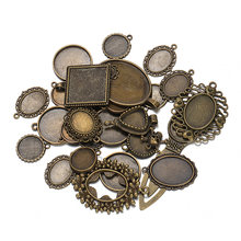 50 г 100 diy камея основа лоток смешанный дизайн Античная бронза