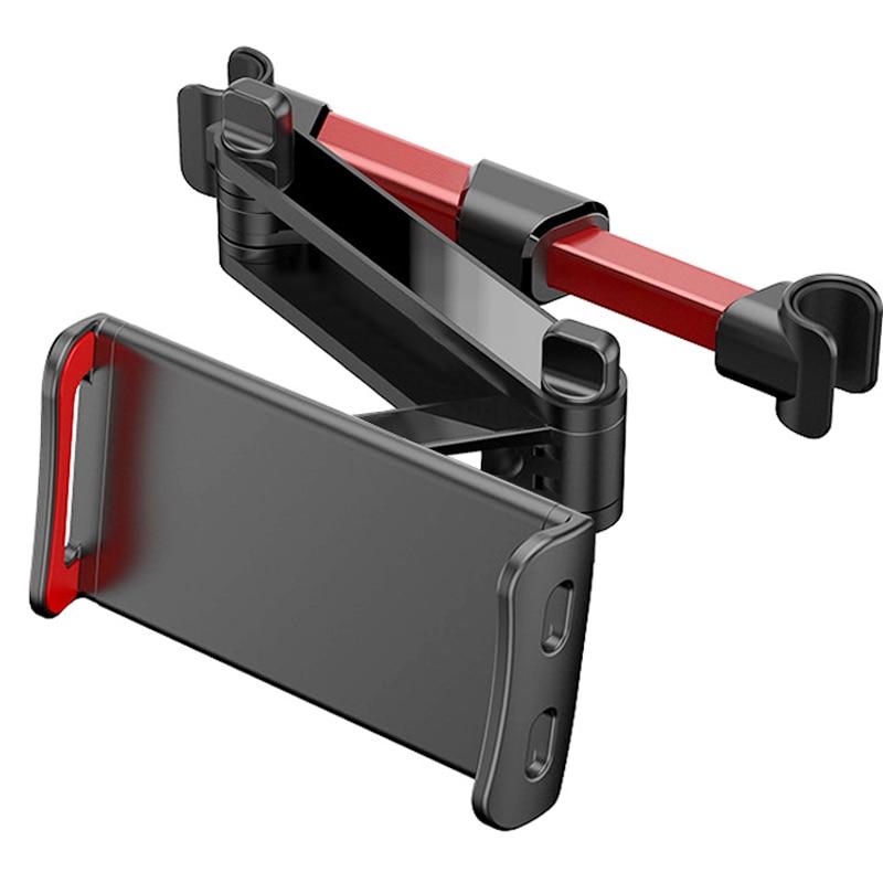 Suporte telescópico traseiro de carro para celular, suporte de telefone para tablet, assento traseiro, descanso de cabeça, suporte de montagem para celular tablet 4-11 polegada