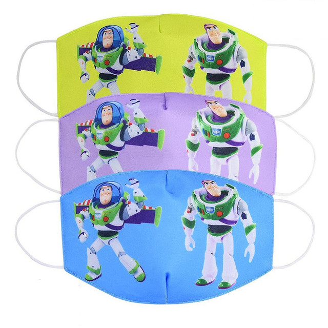 Disney Toy Story Buzz Lightyear Woody Jessie Children's Face Maks Reusable Breathable Protective Kid Cartoon Mouth Face Maks 2