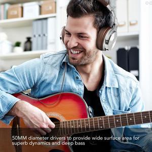 Image 4 - Oneodio estúdio profissional dj fones de ouvido com microfone sobre a orelha com fio monitores de alta fidelidade dobrável gaming headset para pc