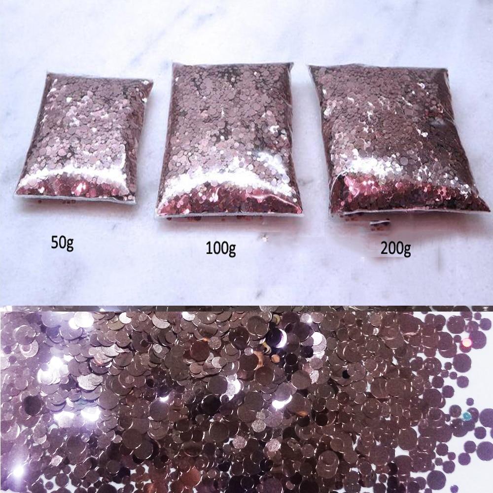 glitter misto de pontos de ouro rosa metalico 1 mm 2 mm 3 mm resistente a