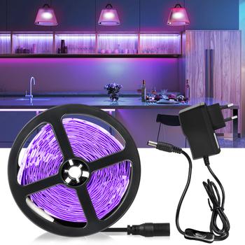 Taśma LED UV elastyczna 12V 2835 SMD wstążka fioletowa taśma lampa ultrafioletowa 385-400nm czarne światło dla DJ fluorescencja imprezowe zwierze domowe czyste tanie i dobre opinie Aamasun CN (pochodzenie) ROHS Bedroom 10000 ZAWSZE WŁĄCZONY Taśmy 2 88 w m Epistar Purple 12 v Smd2835 UV led strip light
