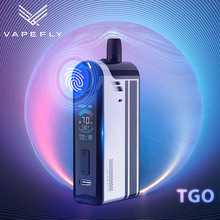 Original Vapefly TGO 70W Pod Mod Kit 0.3ohm/0.6ohm Mesh Coil 2300mAh builtin Battery 4.5ml Cartridge 0.96inch TFT Screen E Cig