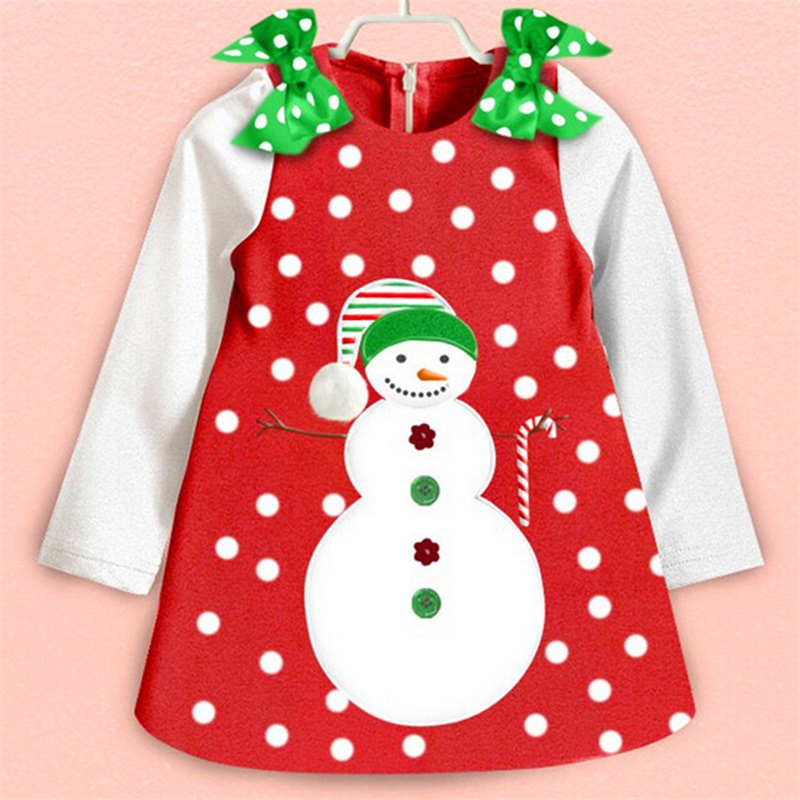 H918bea5bca124e0ba63b611cda3ccb1eA New Year Baby Girl Christmas Dress Girl's Merry Christmas Dress Children Kids Cotton Dot Dress Girls Tutu Santa Clus Costume