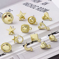 10pcs DIY Earring Settings Handmade Love Heart Star Moon Dangle Earrings Hook Earrings Base for Jewelry Making Accessories