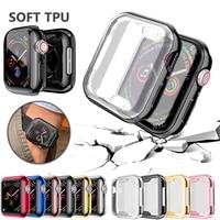 Pokrowiec na zegarek do Apple Watch series 5 4 3 2 1 pokrowiec na pasek 42mm 38m 40mm 44mm Slim TPU ochraniacz na drążek skrzyni biegów do iWatch 4 44mm