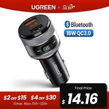 Ugreen USB شاحن سيارة FM الارسال QC 3.0 سيارة شحن سريع شاحن QC3.0 شاحن ل شاومي سامسونج آيفون سريع 3.0 تهمة