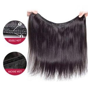 Image 5 - BEAUDIVA שיער טבעי חבילות עם סגירה ישר ברזילאי שיער 3 4 חבילות עם סגירת רמי שיער Weave