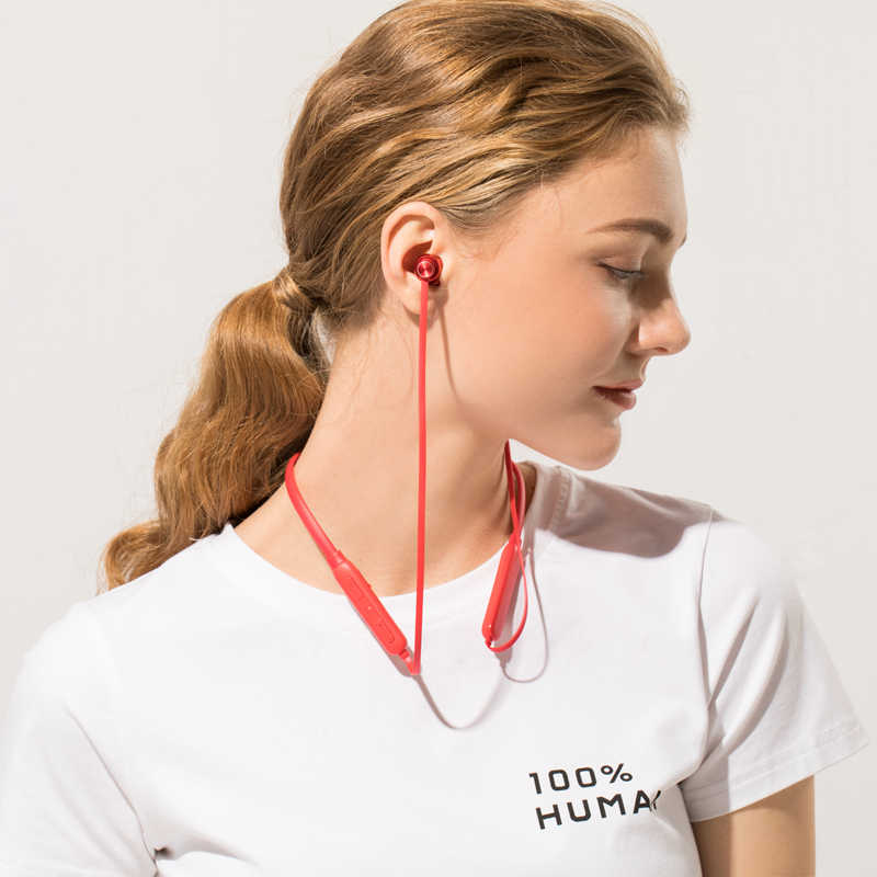 IPUDIS banda para el cuello auriculares Bluetooth IPX5 impermeable deporte inalámbrico auriculares estéreo imán auriculares 130mAh con micrófono