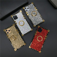 Luxury Glitter Cover Shinning Square Phone Case for