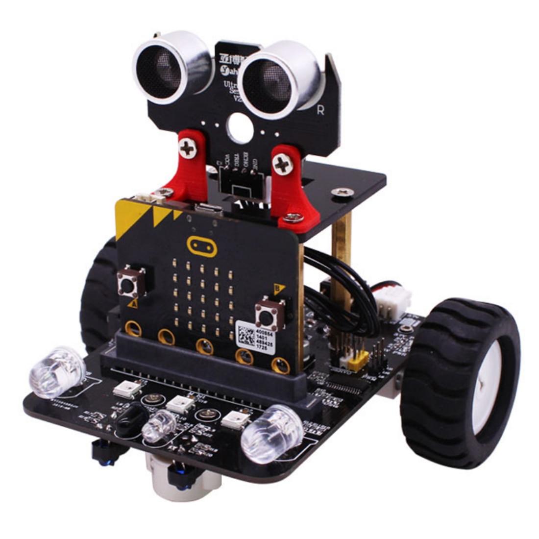 Графический программируемый робот-автомобиль с Bluetooth ИК и трекинговым модулем, паровой робот-игрушка для микро: бит Bbc