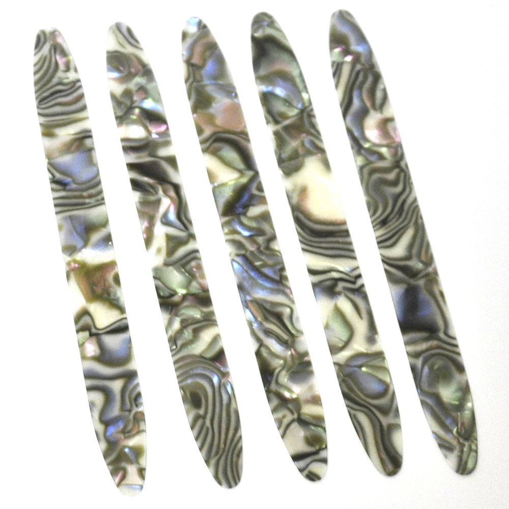 Lots Of 10pcs Abalone Seashell Celluloid Oud Picks Plectrums Reeshe Risha Thickness 0.71mm