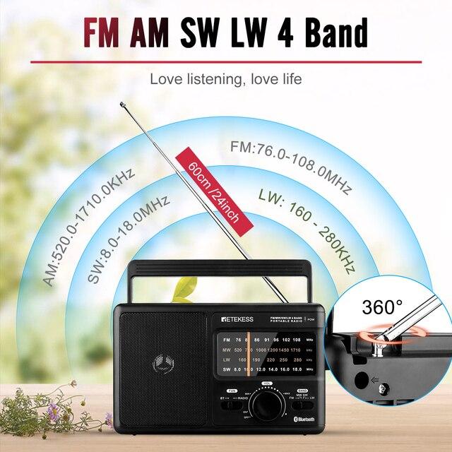 Радиоприемник RETEKESS TR626 AM/FM/SW/LW Bluetooth