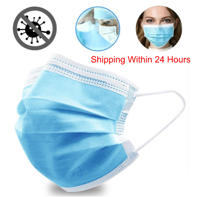 5/10/20/50PCS Non Woven Disposable Face Mask 3 Layers Protective Earloop Anti-Dust Safety Face Masks Anti Haze Fast Delivery