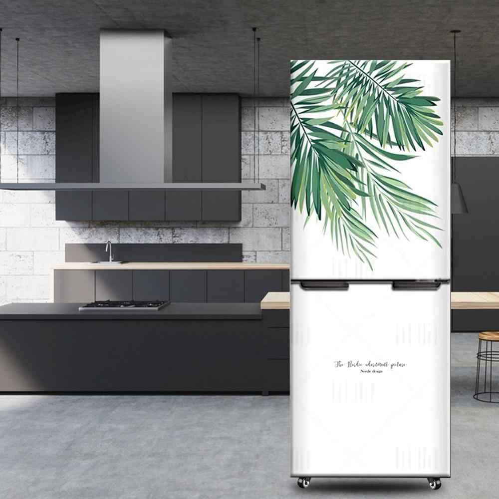 3d réfrigérateur autocollant porte couverture PVC réfrigérateur papier peint enveloppement vinyle auto-adhésif amovible gel autocollant mural décor à la maison